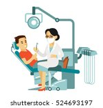 medicine dental concept  in... | Shutterstock .eps vector #524693197