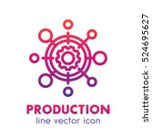 production vector line icon... | Shutterstock .eps vector #524695627