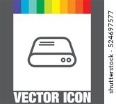 Hard Disk Line Vector Icon. Hd...
