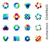 big set of modern icon design... | Shutterstock .eps vector #524698633