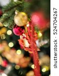 christmas background with... | Shutterstock . vector #524704267