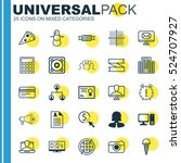set of 25 universal editable... | Shutterstock .eps vector #524707927
