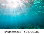 Underwater Blue Background Wit...