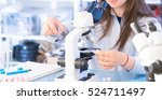 Student Girl In Microbiologica...