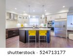 modern  bright  clean  kitchen... | Shutterstock . vector #524713177