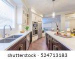 modern  bright  clean  kitchen... | Shutterstock . vector #524713183