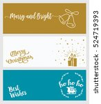 set of christmas and new year... | Shutterstock .eps vector #524719393