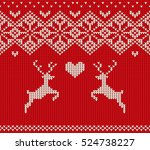 handmade knitted seamless... | Shutterstock .eps vector #524738227