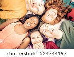 group of  friends laughing out... | Shutterstock . vector #524744197
