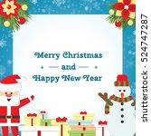 christmas background for your... | Shutterstock .eps vector #524747287