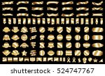 banner ribbon label gold vector ... | Shutterstock .eps vector #524747767