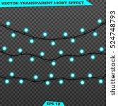 garlands  realistic glowing... | Shutterstock .eps vector #524748793
