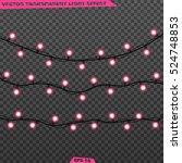 garlands  realistic glowing...   Shutterstock .eps vector #524748853