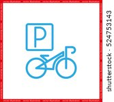 parking bicycle icon vector... | Shutterstock .eps vector #524753143