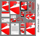 red bright corporate identity... | Shutterstock .eps vector #524758687