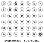 sale icons | Shutterstock .eps vector #524760553
