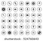 media icons | Shutterstock .eps vector #524760643