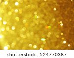 gold and yellow bokeh abstract... | Shutterstock . vector #524770387