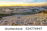 view to jerusalem old city... | Shutterstock . vector #524774947