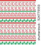 new year's christmas pattern... | Shutterstock .eps vector #524775553