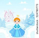 cute little princess in the... | Shutterstock .eps vector #524780773