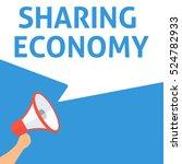sharing economy announcement.... | Shutterstock .eps vector #524782933