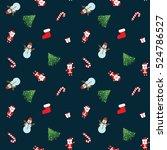 seamless christmas patterns.... | Shutterstock .eps vector #524786527
