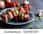 Roasted Skewers With Sausage ...