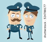 funny clipart of a police... | Shutterstock .eps vector #524788177