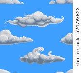 Seamless Pixel Art Clouds...