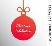 silhouette of a christmas ball... | Shutterstock .eps vector #524797993