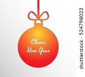 silhouette of a christmas ball... | Shutterstock .eps vector #524798023