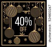 banner for seasonal discounts ... | Shutterstock .eps vector #524803267
