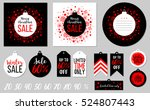 abstract printable red tags... | Shutterstock .eps vector #524807443