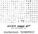 vector hand drawn arrows set | Shutterstock .eps vector #524809813