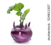Cabbage Kohlrabi Isolated On...