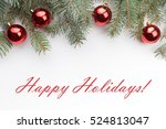 christmas decoration background ... | Shutterstock . vector #524813047
