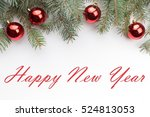 christmas decoration background ... | Shutterstock . vector #524813053