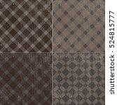 vector seamless vintage retro... | Shutterstock .eps vector #524815777