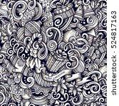 cartoon doodles new year season ... | Shutterstock . vector #524817163