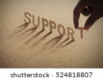 support word on compressed... | Shutterstock . vector #524818807