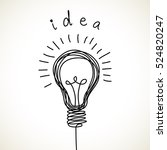 light bulb icon with concept of ... | Shutterstock . vector #524820247