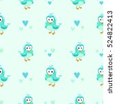 Cute Girlish Seamless Pattern...