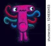 vector cool cartoon sad monster ... | Shutterstock .eps vector #524830453