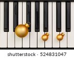 top view close up shot of piano ... | Shutterstock . vector #524831047