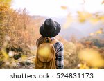 woman with backpack at... | Shutterstock . vector #524831173
