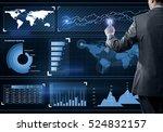 back view of businessman... | Shutterstock . vector #524832157