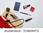 a mid shot of red colored... | Shutterstock . vector #524834473