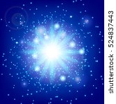 light effect background. blue...   Shutterstock .eps vector #524837443