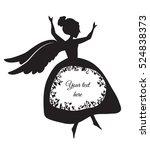 dancing angel. laser or plotter ... | Shutterstock .eps vector #524838373